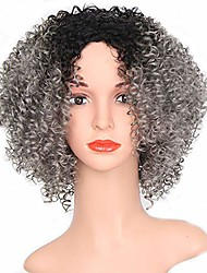 cheap -afro wigs for black women kinky curly full short bob wig 12inch 30cm synthetic heat resistant wigs for african women with wig cap (r2-171 ash gray)