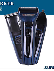 cheap -Surker Electric Hair Trimmer Sk-6011 3 In1 Electric Hair Clipper Beard Trimmer Nose Trimmer Electric Shaver Razor Hair Removal