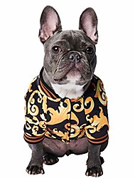 cheap -pet clothing baroque print jacket stylish streetwear outfit for dog cat puppy (3xl)