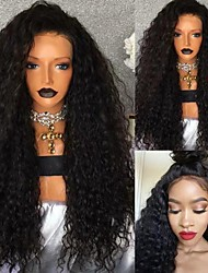 cheap -Hot selling African wig women's fashion front lace black split long curly hair hand wrapped tube fiber wig Headcover