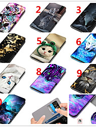 cheap -Phone Case For Apple Full Body Case Leather Wallet Card iPhone 12 Pro Max 11 SE 2020 X XR XS Max 8 7 6 Wallet Card Holder Shockproof Cartoon Flower / Floral Animal PU Leather TPU