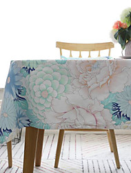 cheap -Table Cloth Cotton Flower American Style Floral Table Cover Table decorations for Daily Wear rectangule 32*45/45*45/60*60/90*90/30*180/30*200/30*220/100*140/130*130/140*140/140*160/140*180/140*200 cm