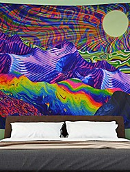 cheap -psychedelic tapestry hippie tapestry mountain and sun tapestry colorful sunrise landscape wall tapestry bohemian trippy tapestry wall hanging for living room decoration