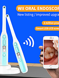 cheap -Wireless Wifi Oral Dental Endoscope 8 adjustable led lights Intraoral Camera HD Video For ios android Teeth Inspection endoscope