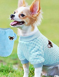 cheap -Cat Dog Sweater Sweatshirt Puppy Clothes Flower Casual / Daily Winter Dog Clothes Puppy Clothes Dog Outfits Purple Blushing Pink Blue Costume for Girl and Boy Dog Polar Fleece S M L XL XXL