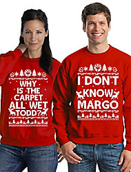 cheap -margo todd sweatshirts todd margo sweaters couples christmas sweater red red men small/ladies xx-large