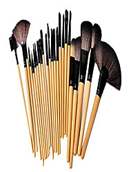 cheap -24pcs makeup brushes cosmetic make up brush tools kit set with case yellow