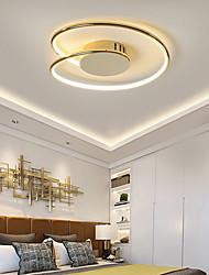 cheap -43/53 cm Ceiling Light Geometric Shape Simple Modern Minimalism Gold Chrome Aluminum Bedroom Lamp