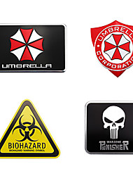 cheap -Metal Agents of SHIELD Biohazard Car Emblem Stickers Decoration BIOLOGICAL HAZARD Car Styling Accessories Decals