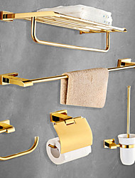 cheap -Bathroom Accessory Set Modern Style Brass 5pcs - Hotel bath Toilet Paper Holders / tower bar / tower ring Wall Mounted