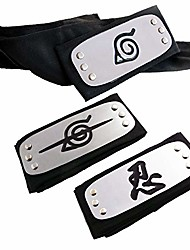 cheap -naruto headband, naruto cosplay headband naruto leaf and anti leaf village ninja headband ninja kakashi cosplay accessories