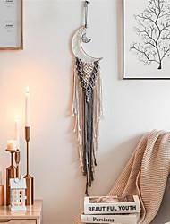 cheap -Boho Dream Catcher Handmade Gift Wall Hanging Decor Art Ornament Craft Woven Macrame Nordic Moon 100*20cm for Kids Bedroom Wedding Festival