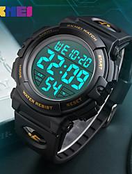 Недорогие -мужские большие лица цифровые спортивные на открытом воздухе водонепроницаемые часы светодиодный световой будильник секундомер простой армейский (синий)