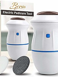 cheap -foot scrubber electric callus remover for feet, portable electronic foot scraper pedicure tool, professionally remove dead skin exfoliator, with 2 foot scrub rollers & 1 waterproof bag