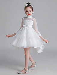 cheap -Princess Cosplay Costume Masquerade Girls' Movie Cosplay A-Line Slip Halloween White / Pink Dress Halloween Children's Day Masquerade Polyester Organza