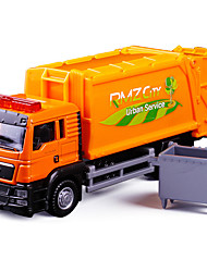 cheap -1:64 Alloy Container Truck Toy Truck Construction Vehicle Transport Car Toy Simulation Music & Light All Adults Kids Car Toys
