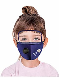 cheap -children's outdoor anti-dust face cover, pm 2.5 windproof cycling face cover washable face cover for outdoor, sports (u, 1pcs)