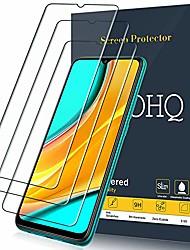cheap -screen protector for xiaomi redmi 9/redmi 9a/redmi 9c, [3 pack] tempered glass film, 9h hardness - no bubbles - anti-fingerprint - anti-scratch
