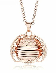 cheap -multi-layer photo locket necklace creative openable item box pendant collar jewelry accessories precious gift (rose gold)