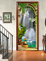 cheap -Self-adhesive Creative Door Stickers Living Room Diy Decoration Home Waterproof Wall Stickers