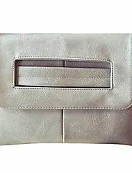 cheap -women large solid color pu leather handbag evening party clutch adjustable cross-body bag shoulder bag grey
