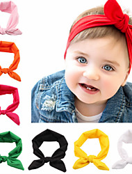cheap -1pcs Toddler / Infant Girls' Basic Black / White / Blue Solid Colored Pure Color Spandex / Cotton Hair Accessories White / Black / Purple One-Size