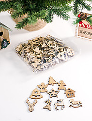 cheap -Christmas Decorations Creative Christmas Wooden Diy Small Accessory Package With 10 Patterns 10 Each