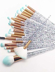 cheap -makeup brush set 20 pieces crystal diamond makeup brush coated foundation eyeshadow brush cosmetics beauty tools