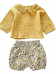 cheap -baby clothing kids summer clothes girls flower printing vest + pure color pants children clothing set (flower, 4-5t)