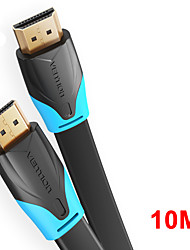 cheap -Vention HDMI to HDMI Cable Flat HDMI2.0 Cable Male to Male 4K*2K 18Gbps Supports Ethernet 3D 4K Video for HDTV PS3/4 10m