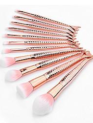 cheap -maxmaxi makeup brush kit cosmetics set 10pcs mermaid makeup brush set synthetic kabuki foundation blending blush eyeliner face powder brush makeup brush kit beauty cosmetic tools (gold)