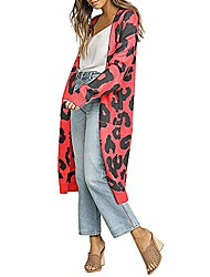 cheap -womens long knit jackets cardigans leopard fashion loose straight sim warm knitwear coat autumn (l =us:4-8,red)