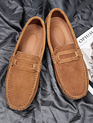 cheap -Men's Loafers & Slip-Ons Driving Shoes Casual Daily Suede Breathable Non-slipping Wear Proof Blue Gray Black Fall