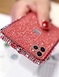 cheap -case for iphone 11 pro glitter sticker case bling diamond rhinestone crystal metal bumper frame case edge protective cover with shiny sparkle skin cute luxury fashion case for iphone 11 pro
