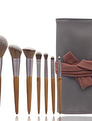 cheap -7 Pcs Makeup Brush Set Makeup Brush Wood Color Makeup Brush Pack Beauty Tools