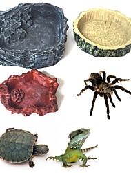 cheap -Crawler Pet Feeder Bowl Basin Resin Non-toxic Food Water Pot Reptile Turtle Tortoise Scorpion Lizard Crabs Pets Supplies