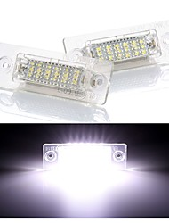 cheap -2Pcs 4W 12V 6500K 18SMD Led Rear Number License Plate Light Lamp For Skoda Passat Caddy