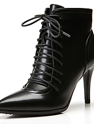 cheap -Women's Boots Stiletto Heel Pointed Toe Classic Vintage Preppy Daily Office & Career Solid Colored Faux Leather Booties / Ankle Boots Black / Brown