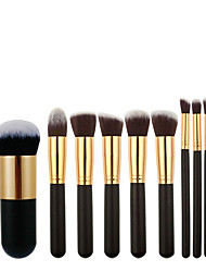 cheap -10 Pcs/11 Pcs makeup brush large version makeup brush set 5 large 5 small makeup brush Xiaopangdun foundation brush