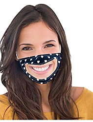 cheap -1pcs adult women man smile communicator transparent face covering with clear window lip language visible expression