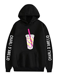 cheap -Inspired by Cosplay Charli D'Amelio Hoodie Polyester / Cotton Blend Graphic Prints Printing Hoodie For Men's / Women's