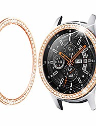 cheap -bezel ring compatible samsung galaxy watch3 45mm bezel, gear s3 frontier classic, crystal bling diamond women men watch bezel cover protector (46mm/45mm,rose gold)