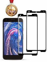 cheap -screen protector compatible google pixel 2xl, [2-pack] [anti-fingerprint][no-bubble][scratch-resistant] tempered glass for google pixel 2xl