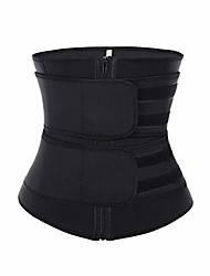cheap -women's waist trainer neoprene zipper high compression waist cincher corset for weight loss (black, medium)