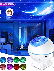 cheap -USB LED Star Moon Night Light Colorful Galaxy Light Projector Ocean Nebula Lamp Music Control For Kids Christmas New year Gifts