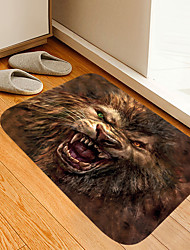cheap -Different Pupil Lion Digital Printing Floor Mat Modern Bath Mats Nonwoven Memory Foam Novelty Bathroom