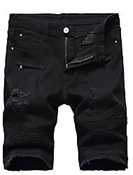 cheap -but& #39;s casual denim shorts classic fit vintage summer cotton jeans shorts black 36