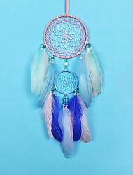 cheap -Led Boho Dream Catcher Handmade Gift Wall Hanging Decor Art Ornament Craft Feather Bead 50*11cm for Kids Bedroom Wedding Festival