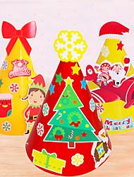 cheap -Christmas Toys Christmas Hat Penguin Elk Snowman Handmade Decoration Party Favors Paper 5 pcs Kid's Adults 23*14.5CM Christmas Party Favors Supplies