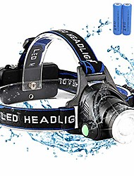 cheap -L-1 Headlamps 150 lm LED LED 1 Emitters 4 Mode with Adapter Portable Professional Camping / Hiking / Caving Everyday Use Cycling / Bike Ordinary style: T6 white light naked light